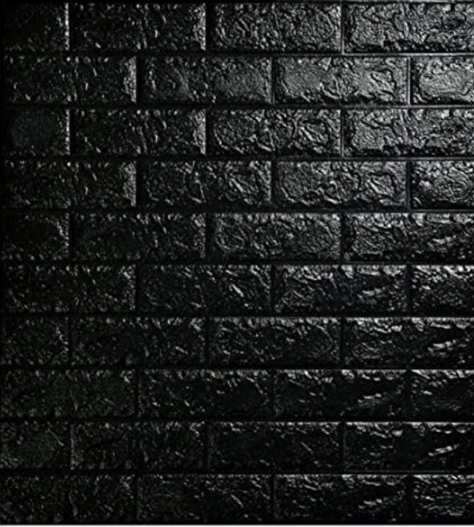 PE Foam 3D Wall Stickers Brick Pattern Self Adhesive –Black  ملصقات الحائط المجسمة شكل الطوب ذاتية اللصق المضادة للتصادم مقاومة للماء – أسمر