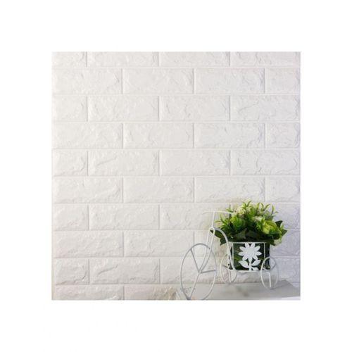 ملصقات الحائط المجسمة شكل الطوب ذاتية اللصق المضادة للتصادم مقاومة للماء – أبيض