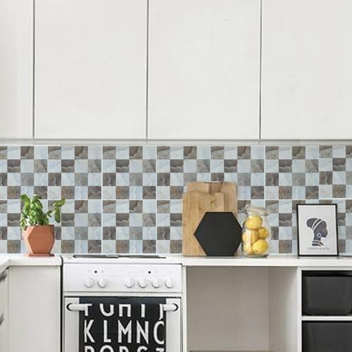 JM701- Decor Tiles Self Adhesive Wall Decor  6 Pcs / JM701- بلاط الديكور ، ديكور جدار ذاتية اللصق  6 قطع