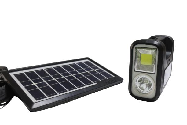 طقم كشاف طاقة شمسية بوحدة اضائة