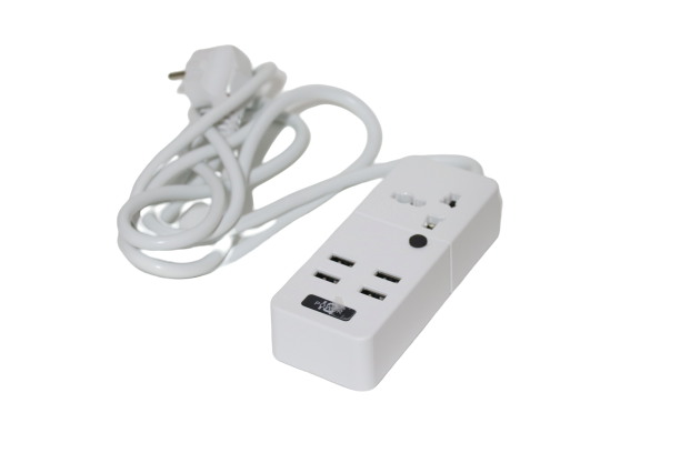 Power Socket 4 USB + 1 Socket 2 M – 2000 w