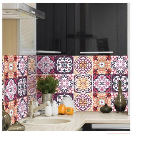 JM704 – Decor Tiles Self Adhesive Wall Decor – 6 Pcs/ JM704 – بلاط الديكور ، ديكور جدار ذاتية اللصق – 6 قطع