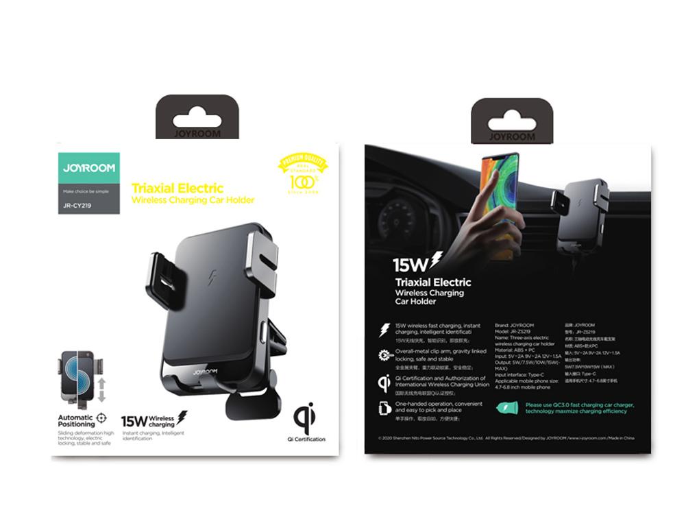 JOYROOM JR-ZS219 15W Car Wireless Fast Charger